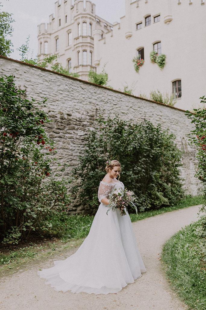 Einzel Portrait der Braut