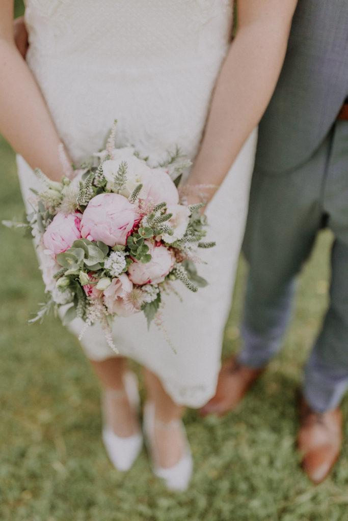 Detailaufnahme des Brautstraußes