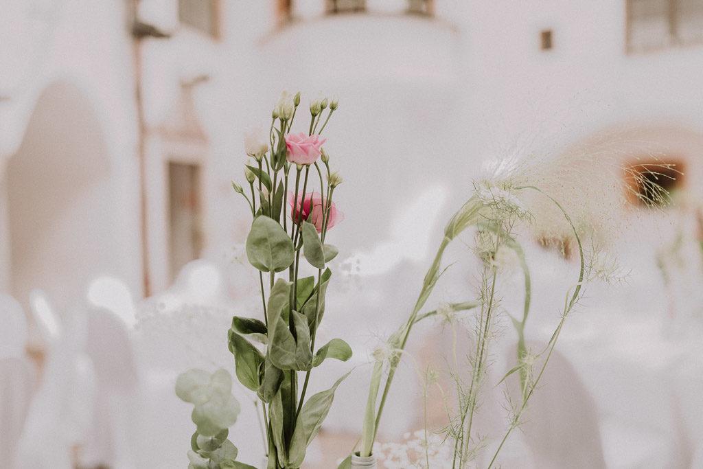 Blumendekoration im Detail